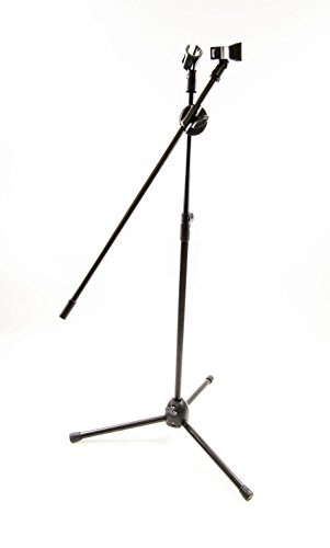 DOUBLE MICROPHONE STAND Adjustable Tripod