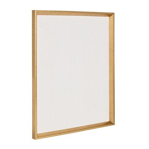 Kate and Laurel Calder Framed Linen Fabric Pin Board, 21.5x27.5, Gold