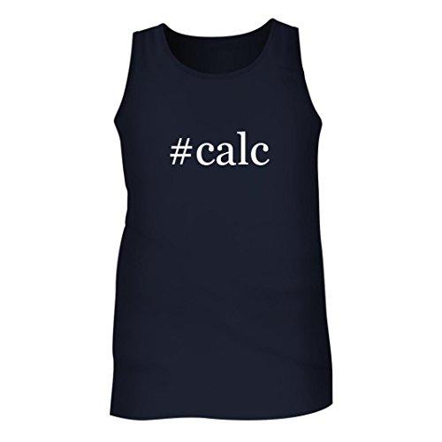 Tracy Gifts #calc - Men's Hashtag Adult Tank Top, Navy, Medium