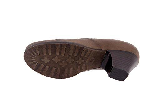 Taupe piel 3433 casual mujer cómodo ancho abotinado Calzado confort de zapato Piesanto qtxPpwX