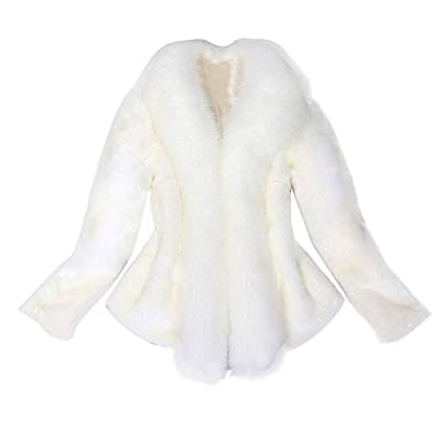 Women Faux Fur Coat Elegant Thick Warm New Fashion Outerwear Fake Fur Jacket By JSPOYOU