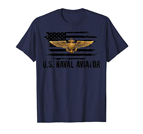 - Navy Aviator Pilot Shirt Men Women Adults Teens Gift TShirt T-Shirt