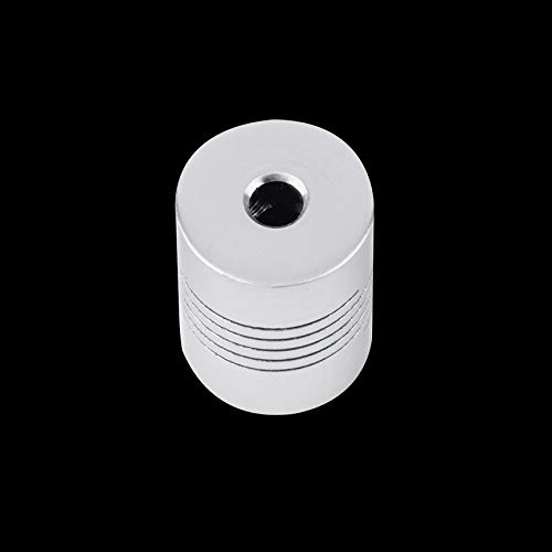 VCB Coupleur darbre de m/âchoire de Moteur 5x5mm CNC 5mm /à 5mm Flexible Couplage OD 19x25mm Argent