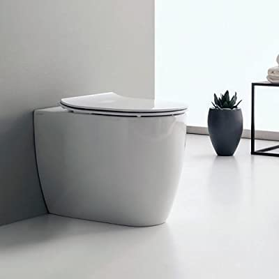 Nameeks 5522 Scarabeo 1.2 GPF Wall Mounted One-Piece Round Toilet Bowl Only with, White