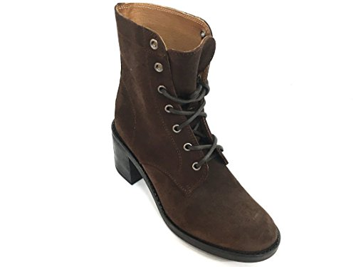 84d6 Anfibio T Pelle In Scarpa Donna Tacco Made moro Italy Con Frau AqfwdRf