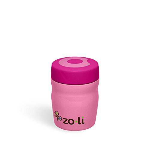 Zoli Baby Dine Vacuum Insulated Food Jar - Pink - 12 oz