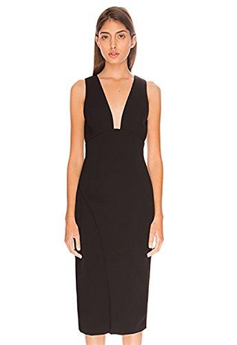 Keepsake Enough Space Midi Dress in Black (Extra Small)