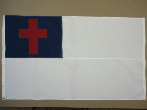 Christian All Sewn Indoor Outdoor 2-Ply Polyester Flag Grommets 6' X 10' by Polywavez