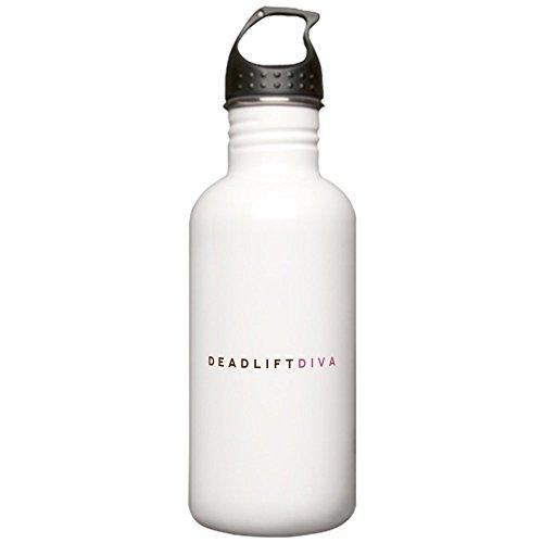 CafePress - Deadlift Diva - Brown & Pink Stainless Water Bottl - Stainless Steel Water Bottle, 1.0L Sports Bottle
