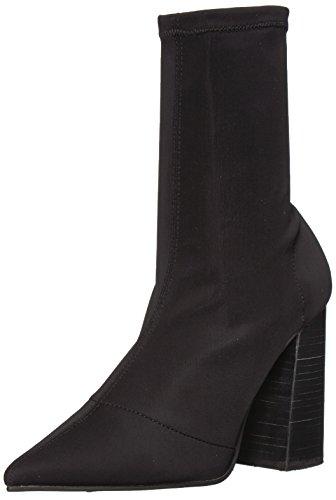 Steve Madden Women's Lombard Ankle Boot, Black, 7.5 M US