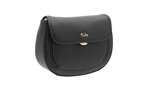 Tula Beautiful Collection Sac à bandoulière en cuir de petite taille beige 8152 noir