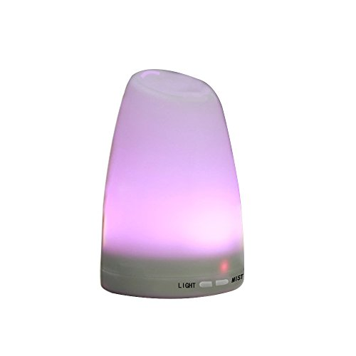 Konliking Portable Ultrasonic Aromatherapy Essential Oil Diffuser with Adjustable Mist Mode Waterless Auto Shut Off and 7 color LED lights