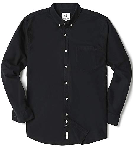 Men's Oxford Long Sleeve Button Down Dress Shirt with ()