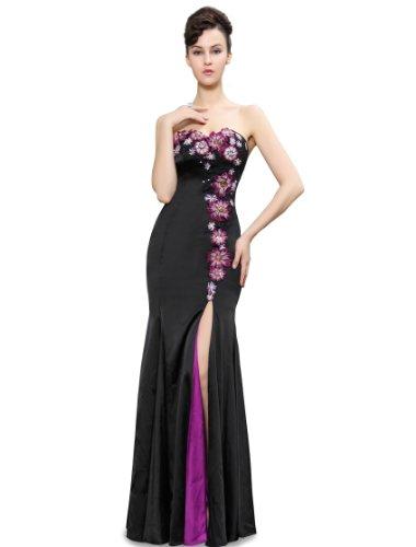 Ever Pretty Womens Elegant Strapless Floor Length Evening Dress 4 US Black