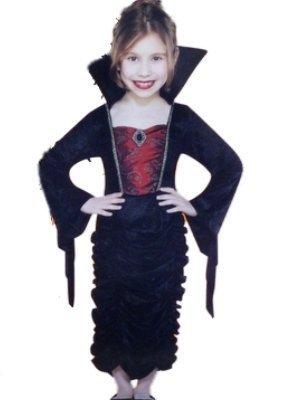 Girls Gothic Vampire Queen Costume Dress Small 4-6x]()