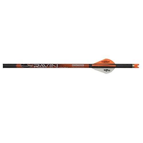 Ravin Crossbow R138 Carbon 400 Grain .003 Crossbow Arrows (6 Pack), Black/Red