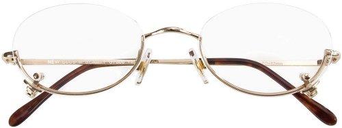 Lesebrille / Lesehilfe Schminkbrille Beauty in gold inkl. Brillenetui in Stärke +4,00 dpt