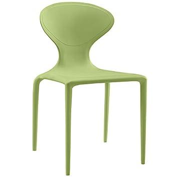 Amazon.com: modway Draw Side silla de comedor en color verde ...