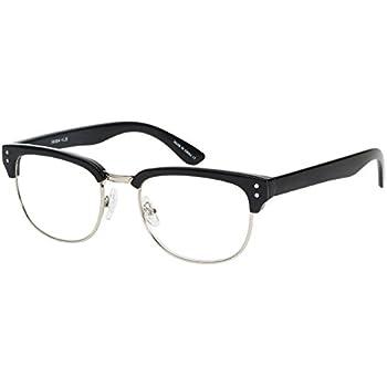 49b2916a4e Edge I-Wear Retro Semi-Rimless Horned Rim Readers for Men SOHO Women  Reading Glasses 1.50 E41034-+1.50-3(BLK+SIL)