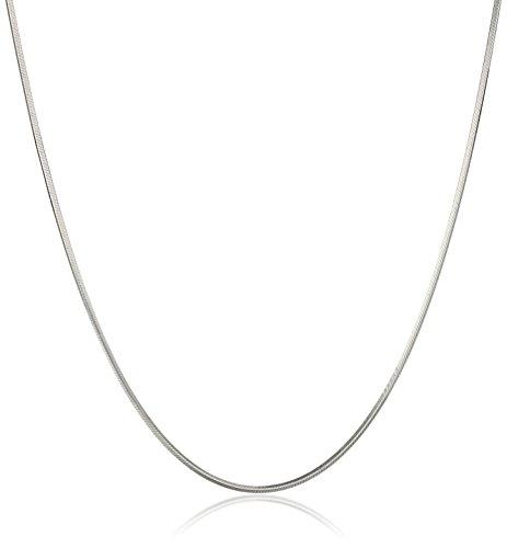 White Diamond Cut Snake Chain Necklace