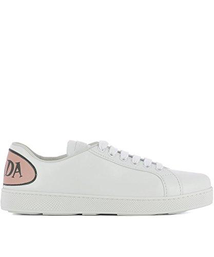 Prada Damen 1e779if0053ke5f0i0h Weiss Leder Sneakers