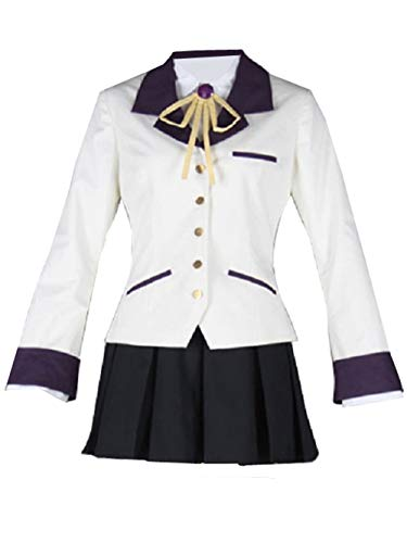 LVCOS Angel Beats Angel Kanade Tachibana Halloween Cosplay Costume School Uniform (M)