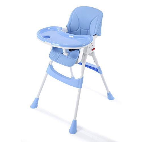 JRP@w Children's Dining Chair,Environmental Protection Double Plate Multiple Gears Adjust Portable Dining Table and Chair Seat Comfortable/Blue / 607594cm
