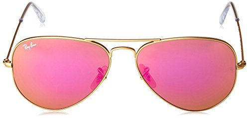 de Liliac sol Ban Metal Flash Hombre para Large Gafas Ray Aviator Marrón C41wnq