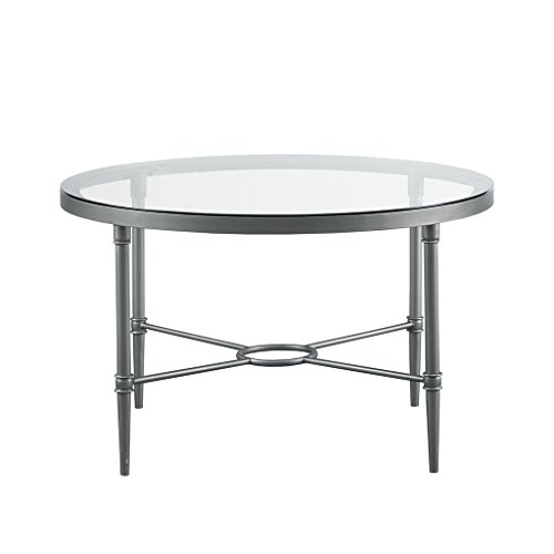 (Bentley Round Coffee Table Antique Silver See Below )