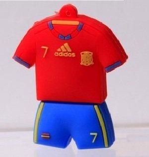 8GB Camiseta Futbol Seleccion Española 7 David Villa Pendrive Pen Drive Memoria Usb-PD094(Envío de Fábrica 25 días aprox): Amazon.es: Electrónica