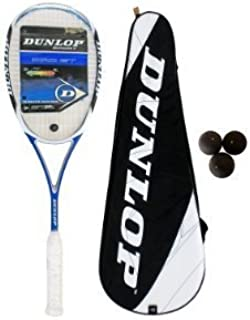 Dunlop PRO GT Raquette de squash Aerogel + 3 balles de squash Dunlop