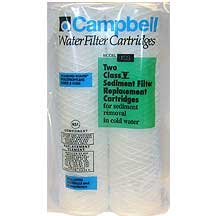 Campbell 1ss Sediment Filter Cartridges, 5 Micron, 9 3/4'', 2 Pack