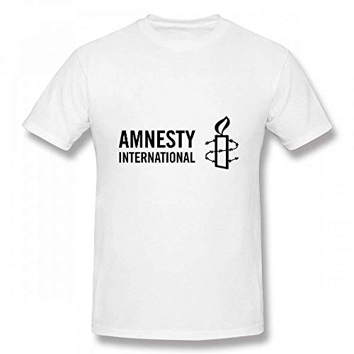 Amnesty International Customizable Personalized Men's T-Shirt Tee WhiteX-Large