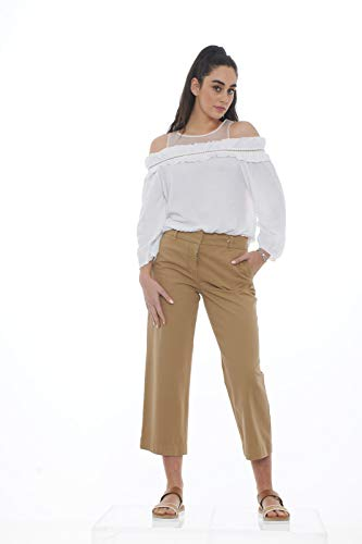 Cut Tricot Con Chic Donna Out Dettagli Bianco Maglia HOqPz