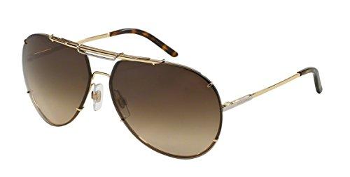 Dolce & Gabbana Sunglasses - DG 2075 / Frame: Gold Lens: Brown - Gabbana Sunglasses And 2012 Dolce