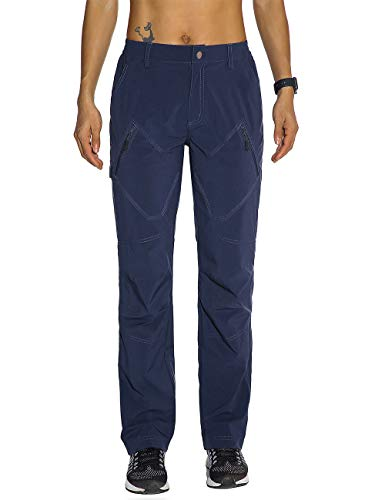 Nonwe Women's Outdoor Rock Climbing Pants Quick Drying Lightweight Blue Granite XS/29 Inseam