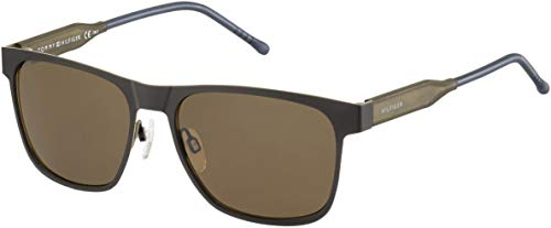 Tommy Hilfiger TH1394S Rectangular Sunglasses, Matte Brown Brown/Brown, 56 mm (Tommy Hilfiger Sunglasses For Men In India)
