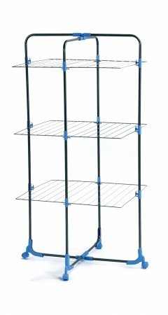Moerman 88347 Tower Airer Indoor/Outdoor Folding Clothes Drying Rack 95 Feet Of Drying Space
