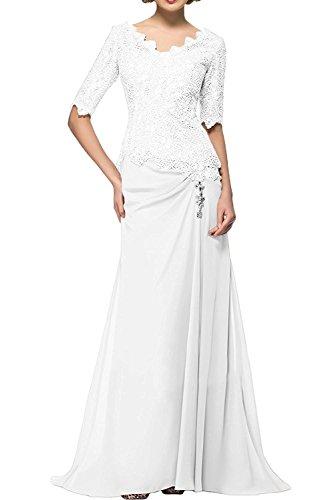 Partykleider Beige La Neu Langarm Herrlich Weiß Spitze Braut Abendkleider Promkleider Brautmutterkleider Ballkleider mia qTxTrzwt