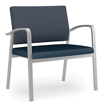 Newport Bariatric Guest Chair w/Fabric Back&Vinyl Seat(Black Fabric Back/Black Vinyl Seat/Black Frame) by OFF1