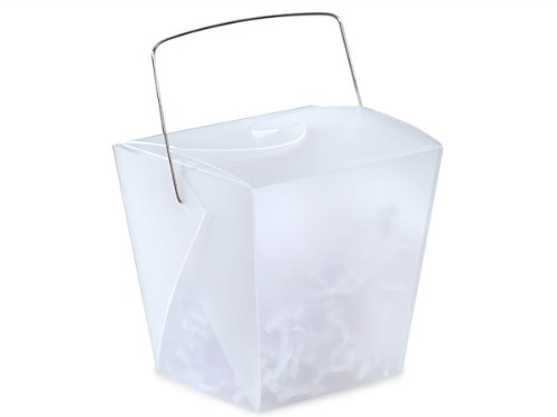 Take Out Frosted Pails - White Large Take Out Boxes 4 - 1/8x3 - 1/2x4