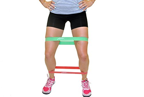 ProSource Loop Resistance Bands Set of 3, 2 inch Wide for Leg Exercises and Physical Therapy