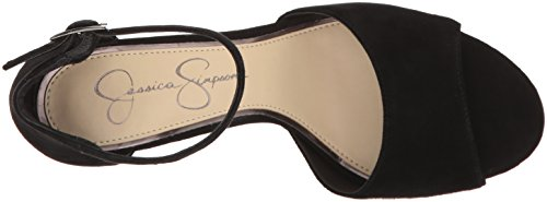 Jessica Simpson Women's Sherron Heeled Sandal Black Suede for sale cheap price from china hot sale for sale eastbay for sale official site dnouoFRS