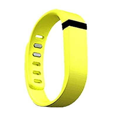 Best_Express Set 1pc Small S Replacement Band with Clasp for Fitbit FLEX Only /No tracker/ Wireless Activity Bracelet Sport Wristband Fit Bit Flex Bracelet Sport Arm Band Armband (Yellow)