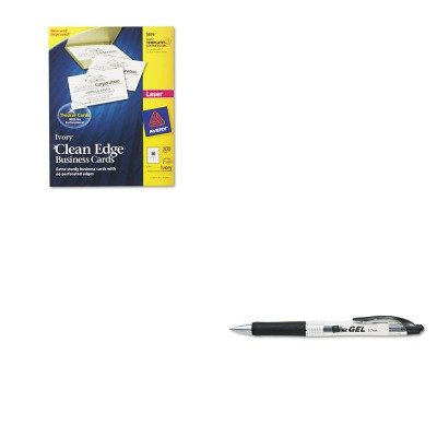 Avery Business Pen - KITAVE49988AVE5876 - Value Kit - Avery Two-Side Printable Clean Edge Business Cards (AVE5876) and Avery eGEL Roller Ball Retractable Gel Pen (AVE49988)