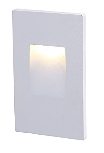 Cloudy Bay CBST004830WH 120V LED Step Light,Vertical,3000K Warm White 3W,Stairway Stair Light,White Finish (Recessed Vertical Step Light)