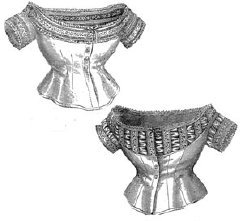 Civil War Colonel Costumes (1873 2 Styles of Muslin Corset Covers Pattern)