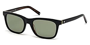 Mont Blanc MB507S Shiny Black w/Green Polarized Lense 01N