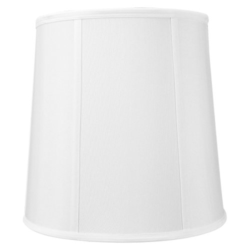 Home Table French Lamp Brass - 10x12x12 White Linen Fabric Drum Lampshade with Brass Spider fitter By Home Concept - Perfect for table and desk lamps - Medium, White
