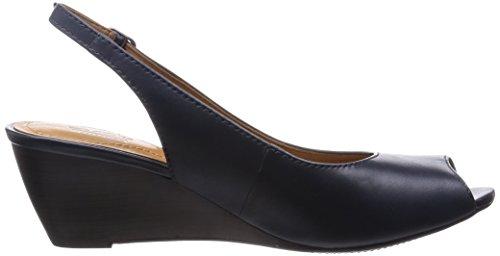 Ladies Clarks Peeped Toe Sling Backs - Brielle April Navy g37drc